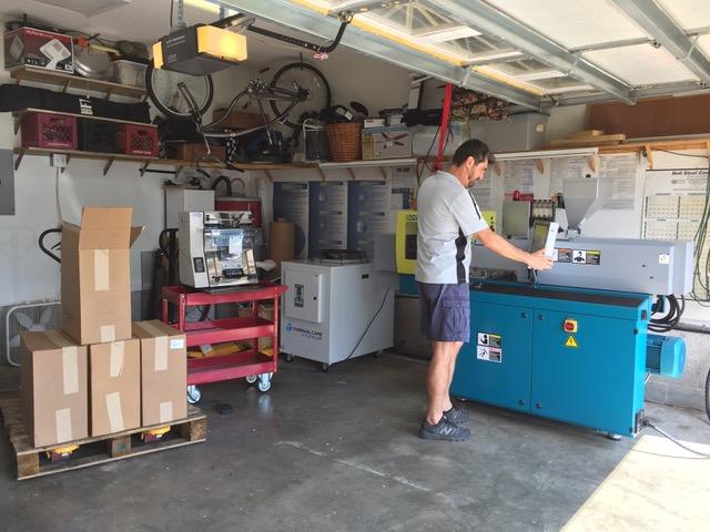 Ralph working in his garage