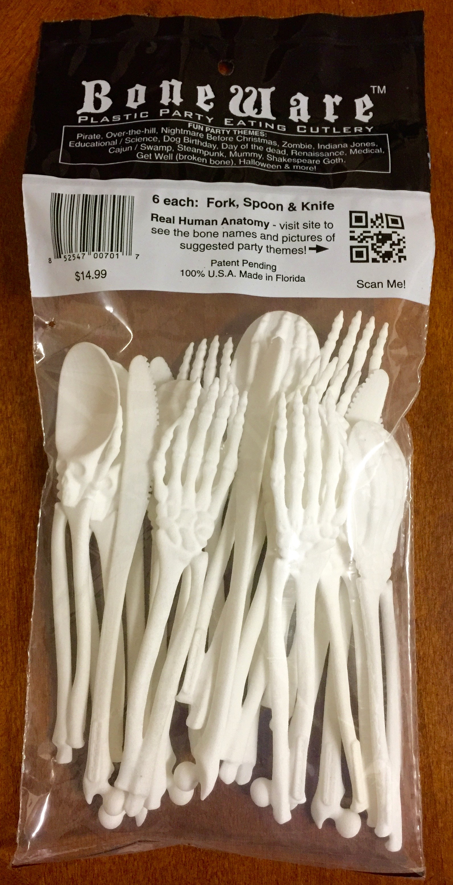 product image of bagged set of Boneware utensils