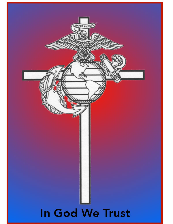 Crucifix with Marine Corps Logo