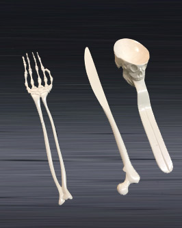 first prototype mold of set of bone-style utensil