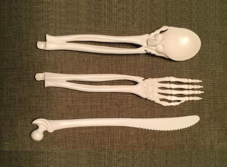 second prototype mold of set of bone-style utensil