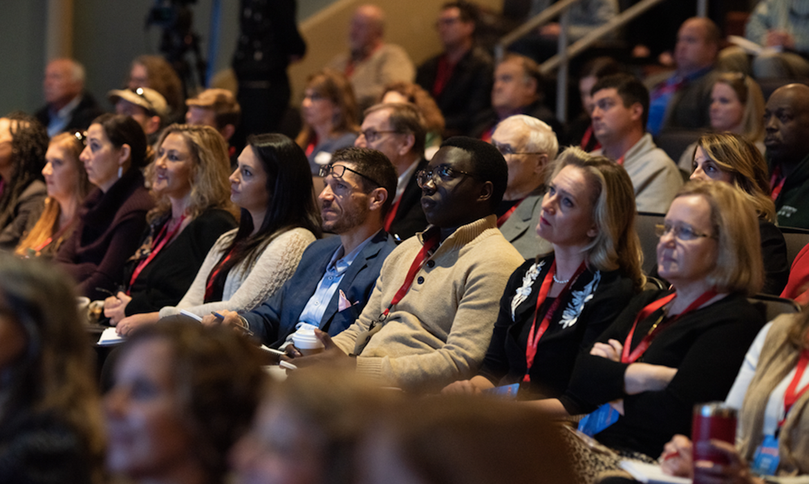 EntreCon 2018 Attendees Watching Keynote Speaker