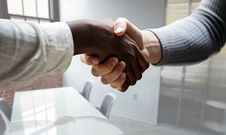 handshake job interview new hire