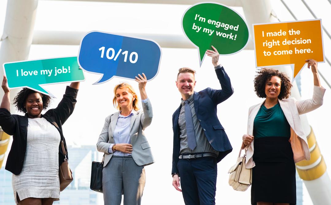 Happy Engaged Employees