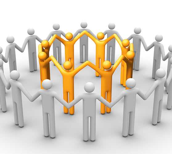 Clipart of persons holding hands in a circle