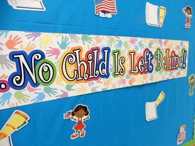 Image, No child is left behind! letter collage, Studer Community Institute