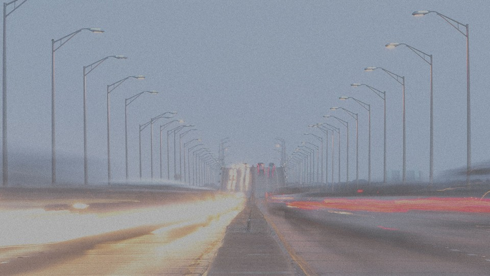 Foggy weather highway