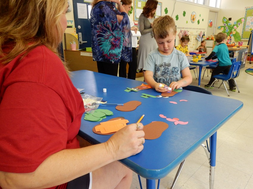Center time in VPK at St. Christopher's Children's Center includes time for artwork, which also helps develops a child's fine motor skills.