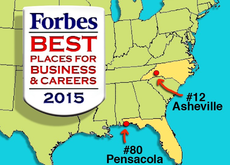Forbes Best Places for Business & Careers 2015 graphic