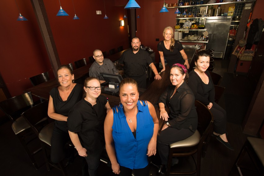 Studer Community InstituteMari Carmen Josephs and her staff at Carmen's Lunch Bar Wednesday, October 14, 2015. (Michael Spooneybarger/ Studer Community Institute)