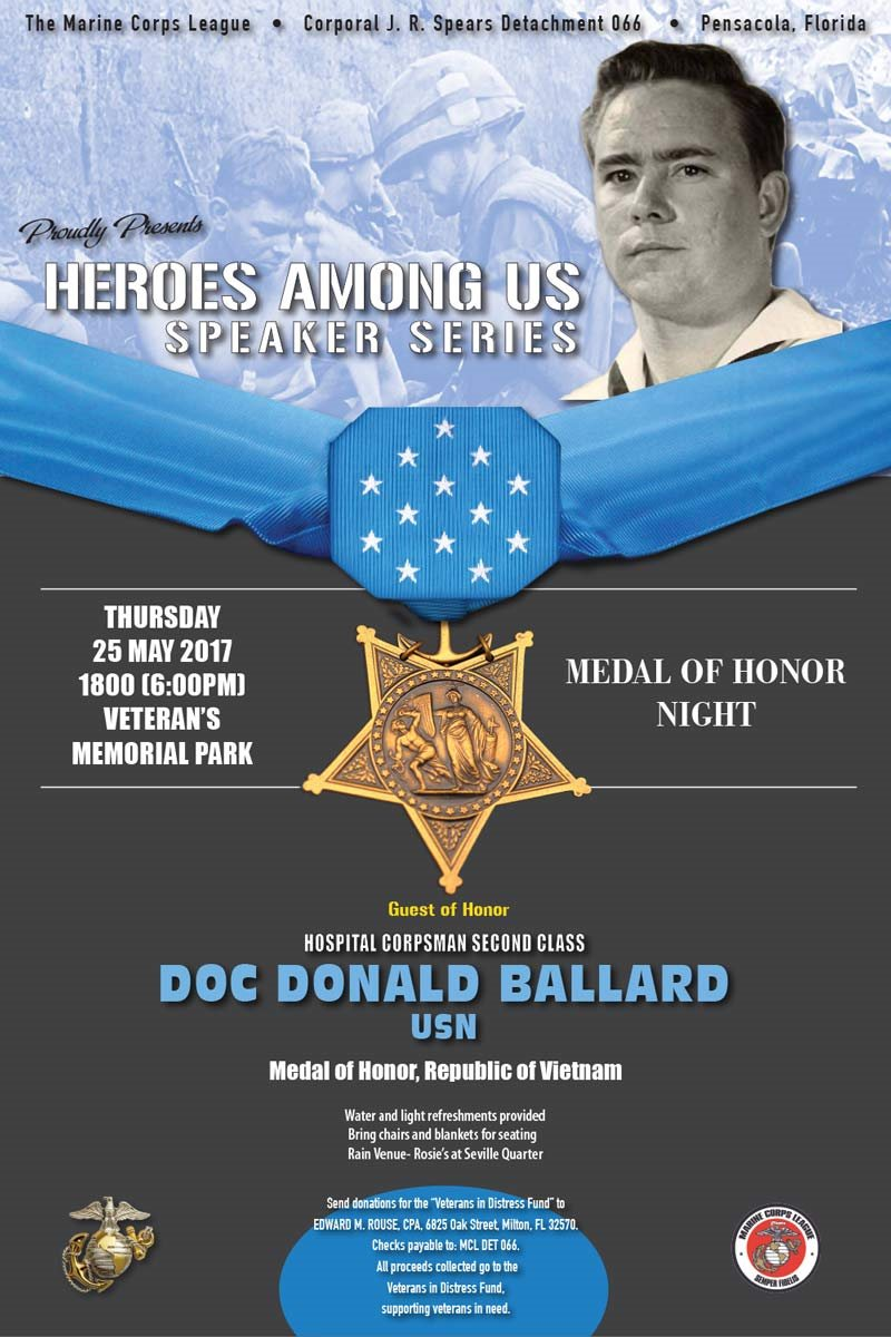 MCL to Honor Doc Donald Ballard, MOH