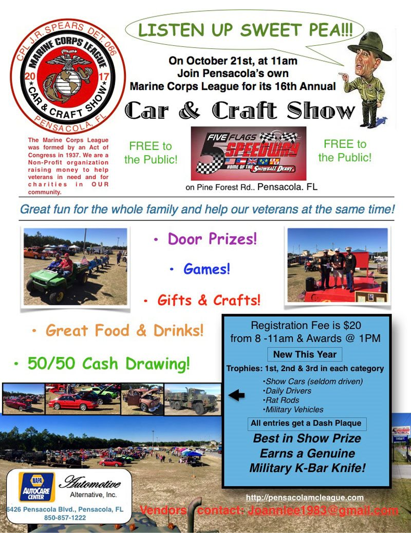 The Marine Corps League's 16th Annual Car & Craft Show