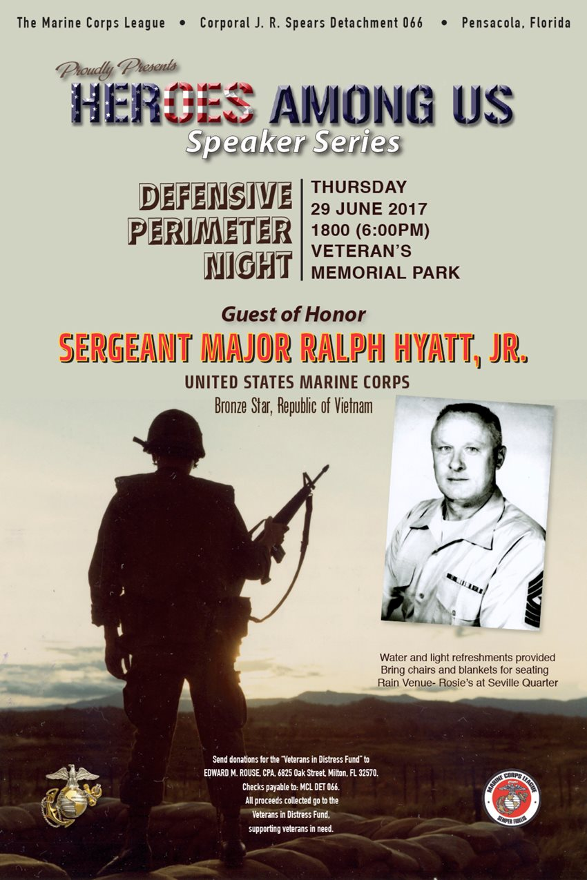 Marine Corps League Honors Sgt. Major Ralph Hyatt