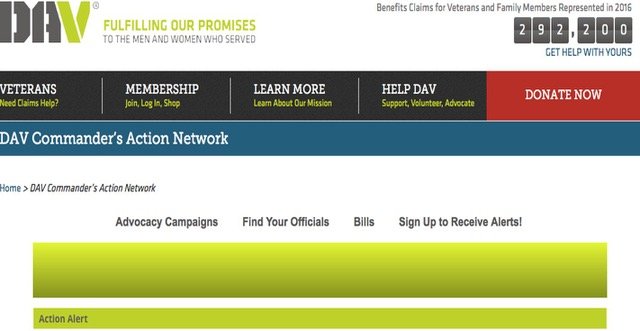 DAV - Veterans Crisis Line Information Alert