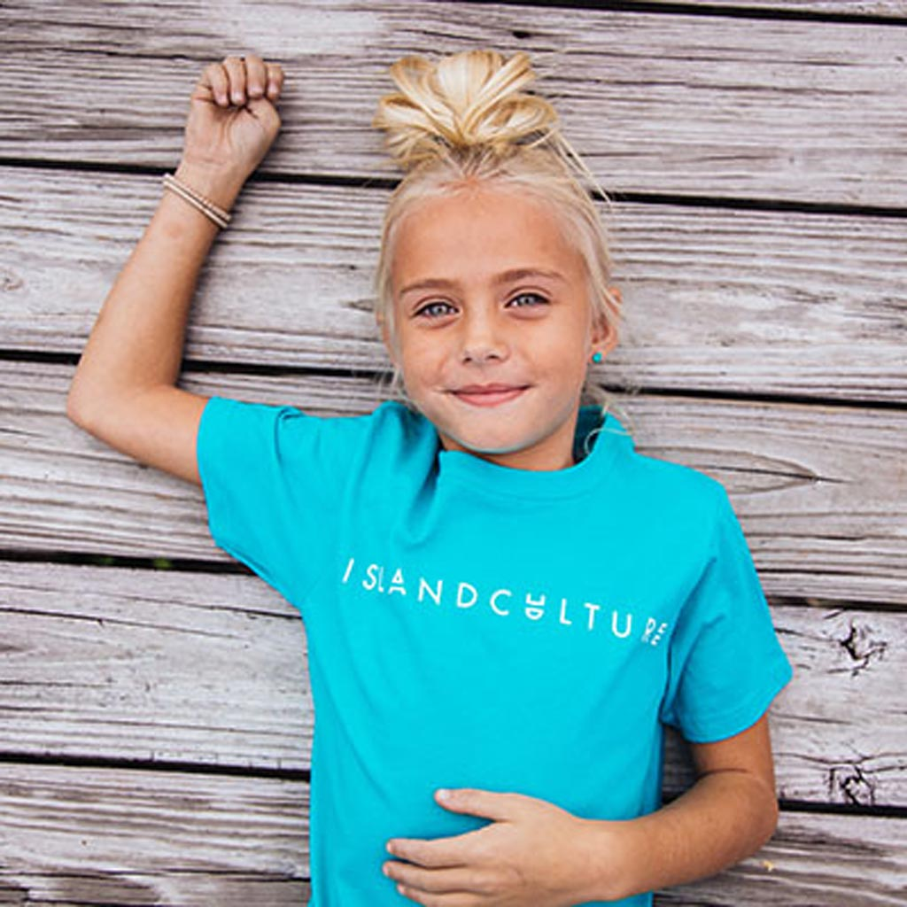 Island Culture Kids Easy Tee - Tahiti Blue