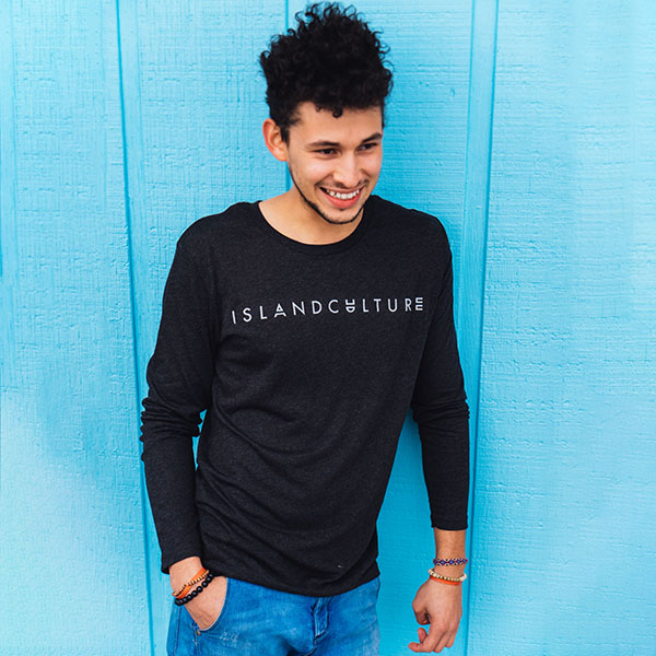 Island Culture Long Sleeve Easy Tee - Black
