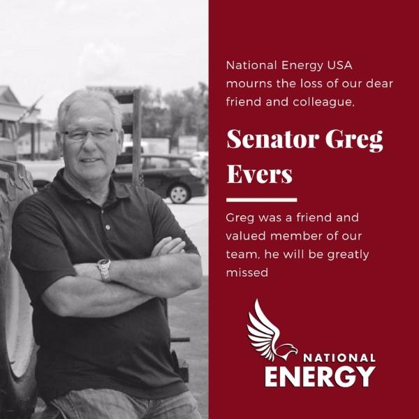 Funeral Arrangements for Senator Greg Evers