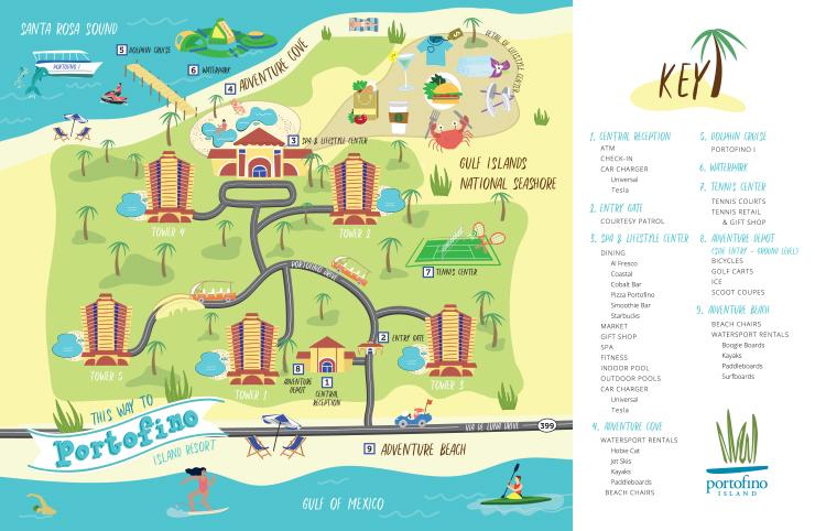 Resort Map Portofino Island