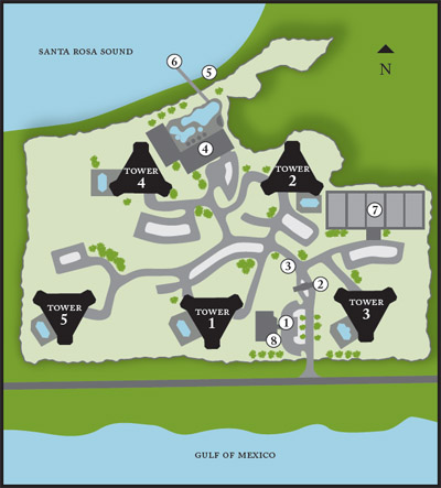 Map Of Portofino Island Resort