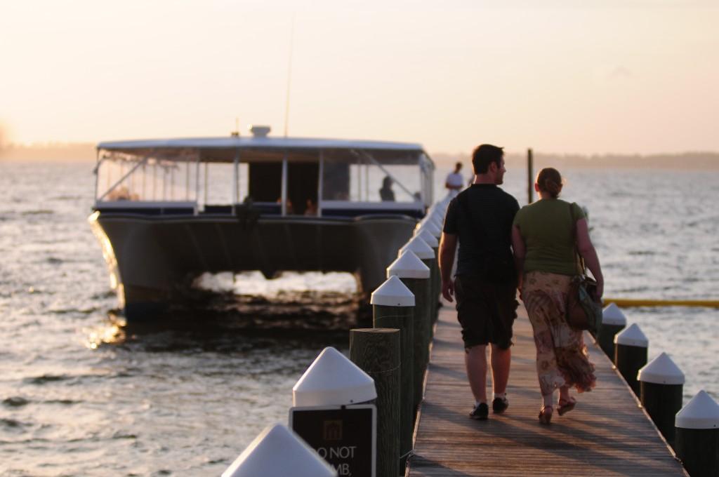 Portofino tour cruise at sunset