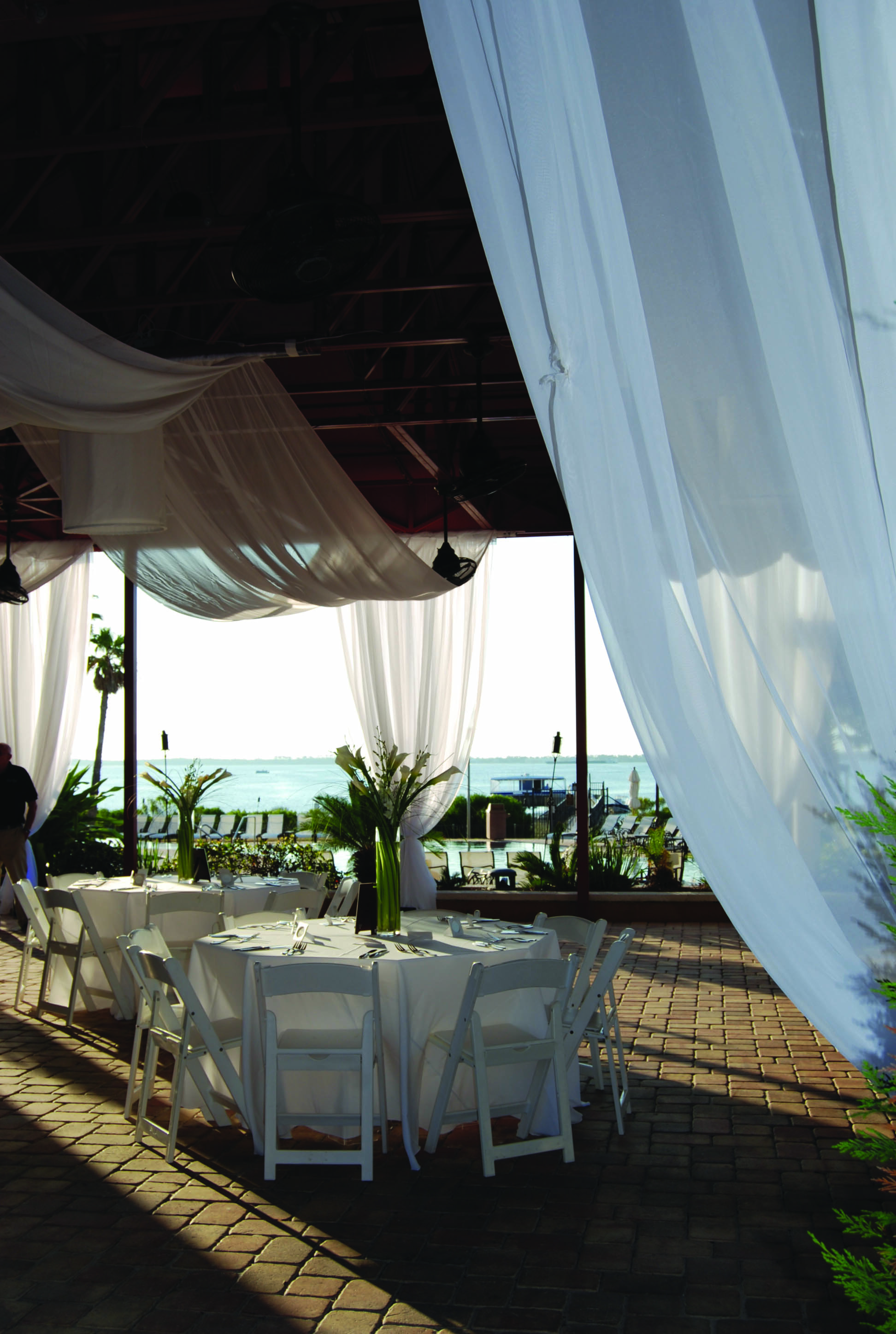 Covered Wedding Reception