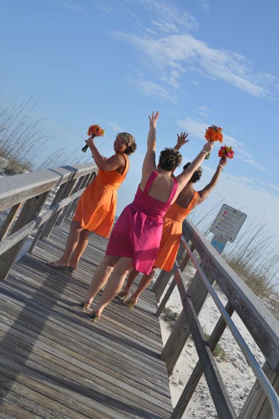 Bridesmaids on Boardwalk