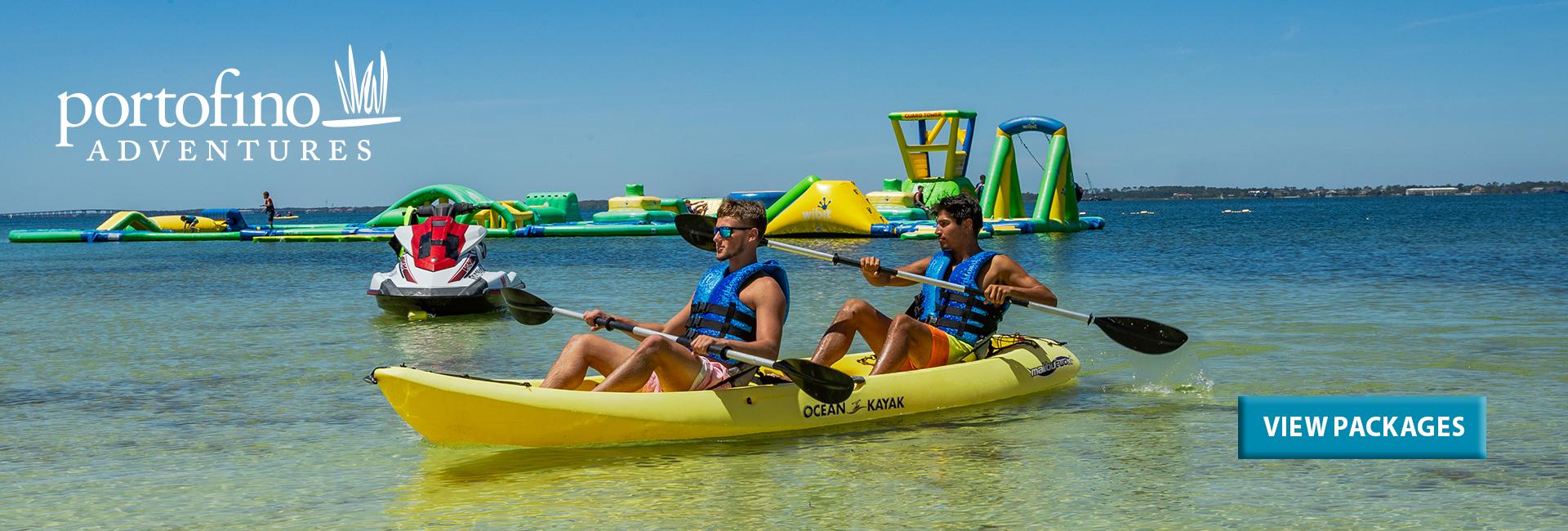 Adventures at Portofino - jet ski, kayak, waterpark