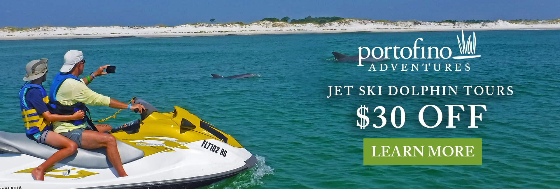 Jet ski dolphin tours in the sound