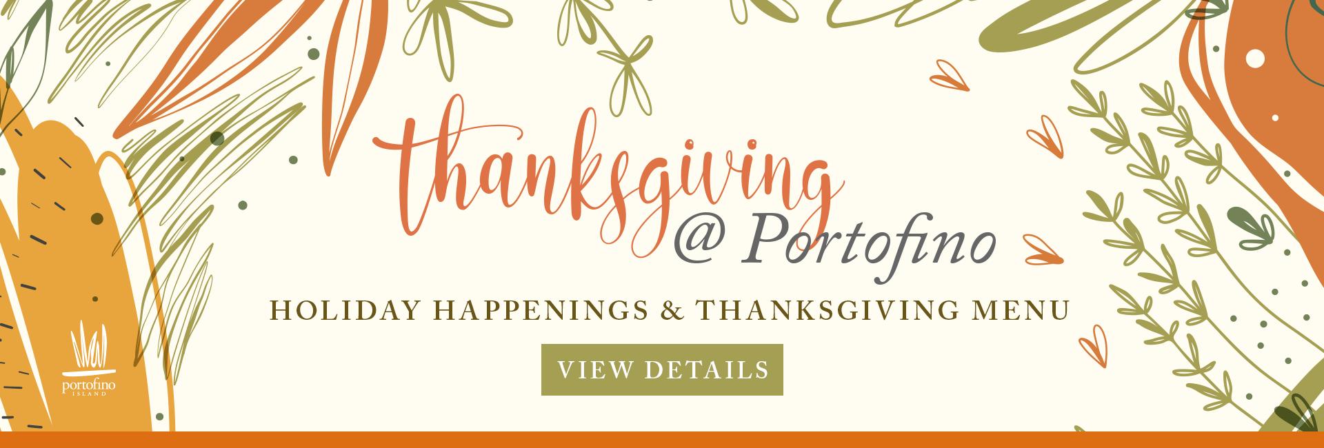 Thanksgiving Menu and Holidays