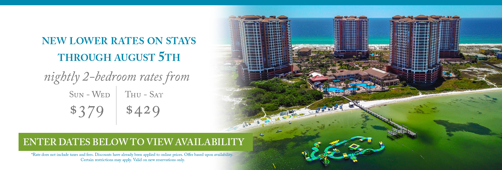 Special rates offer - Resort aerial view