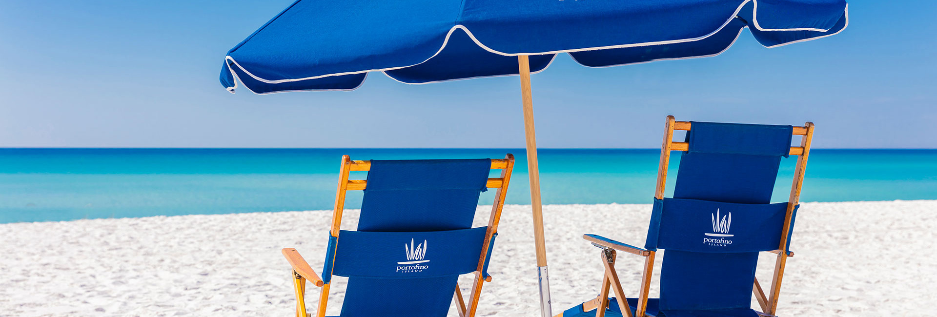 Empty Beach chairs on the gulf - New New Reservations for stays beginning before April 11