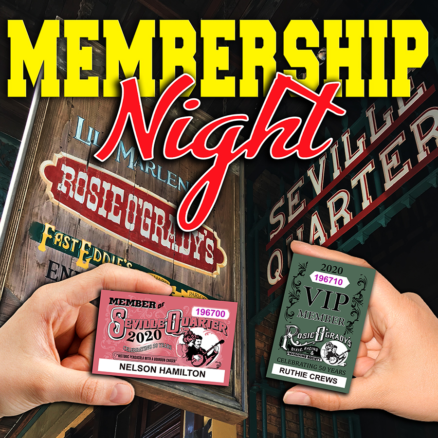 Seville Quarter Event Membership Night