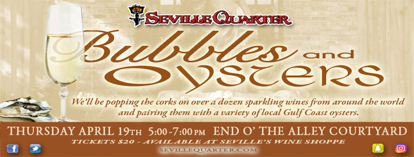 Seville Quarter Event Bubbles and Oysters