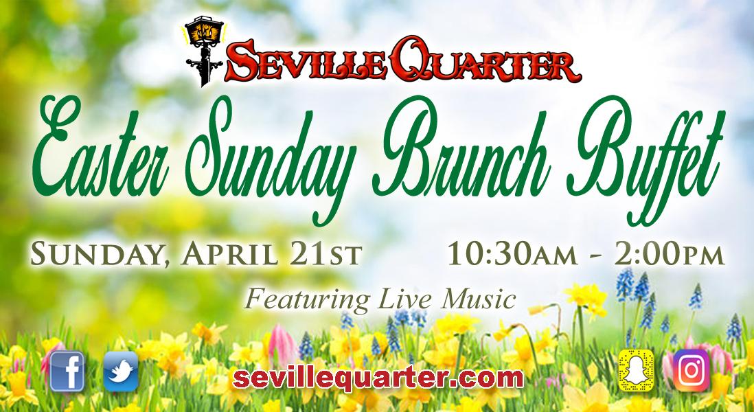 Seville Quarter Event easter