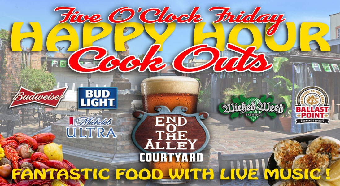 Seville Quarter Event Friday Happy Hour Cookouts