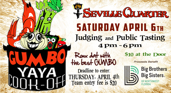 Seville Quarter Event gumbo yaya