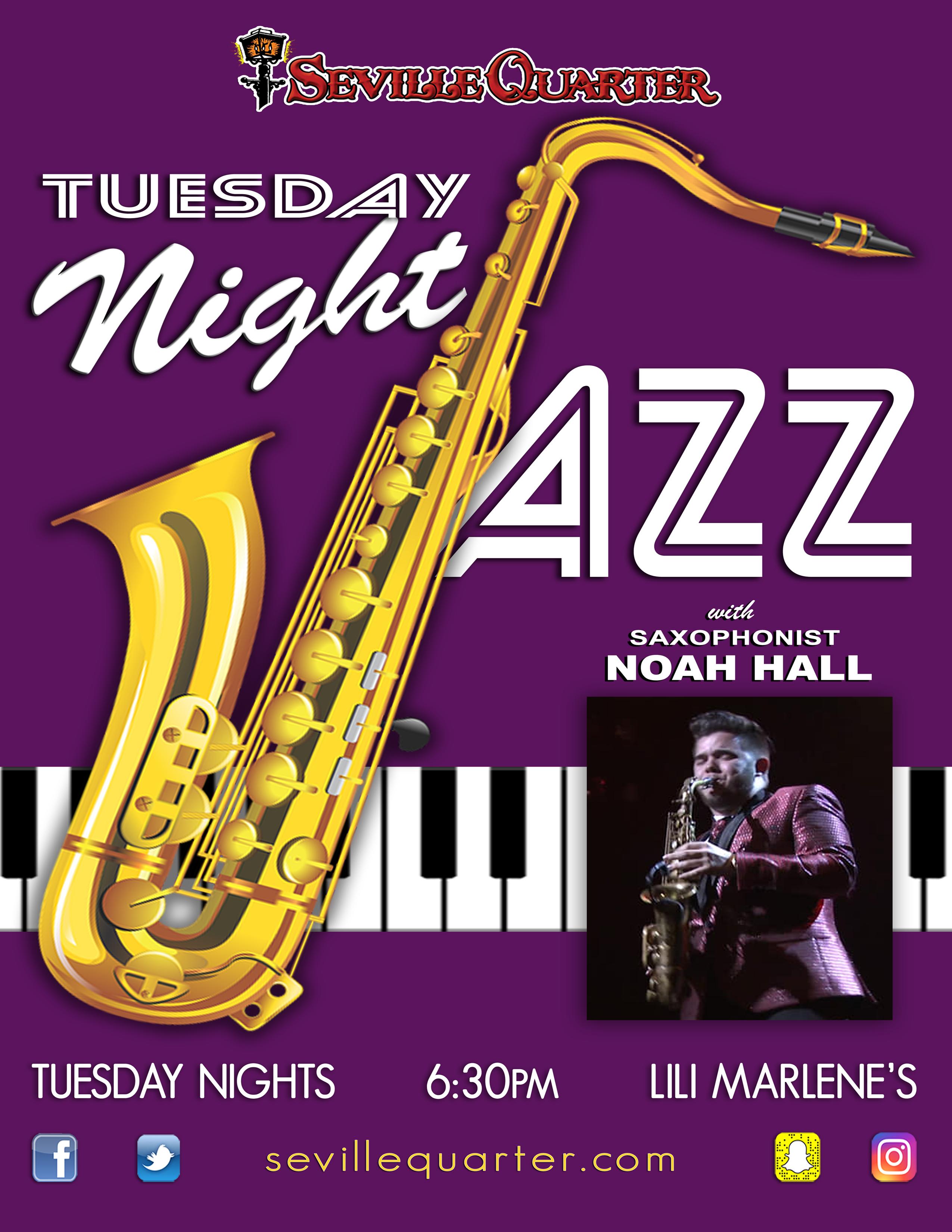 Saxophonist Noah Hall