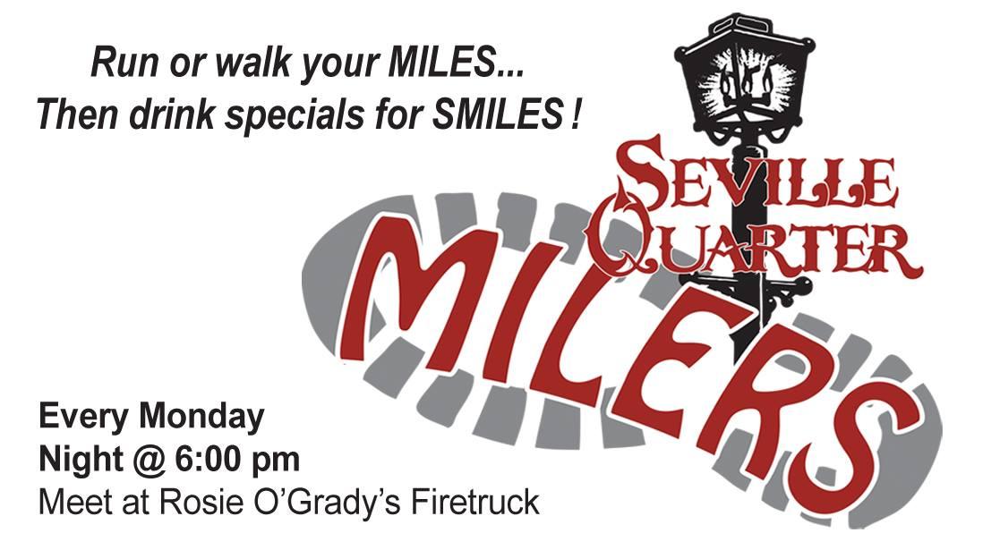 Seville Quarter Event milers graphic