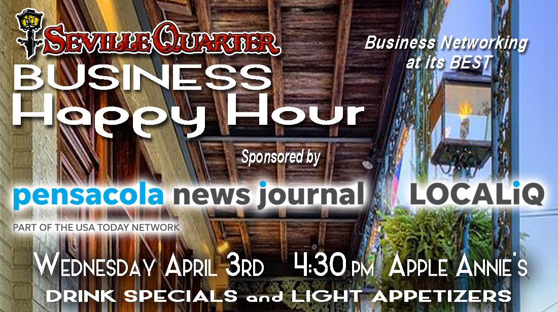 Seville Quarter Event business happy hour