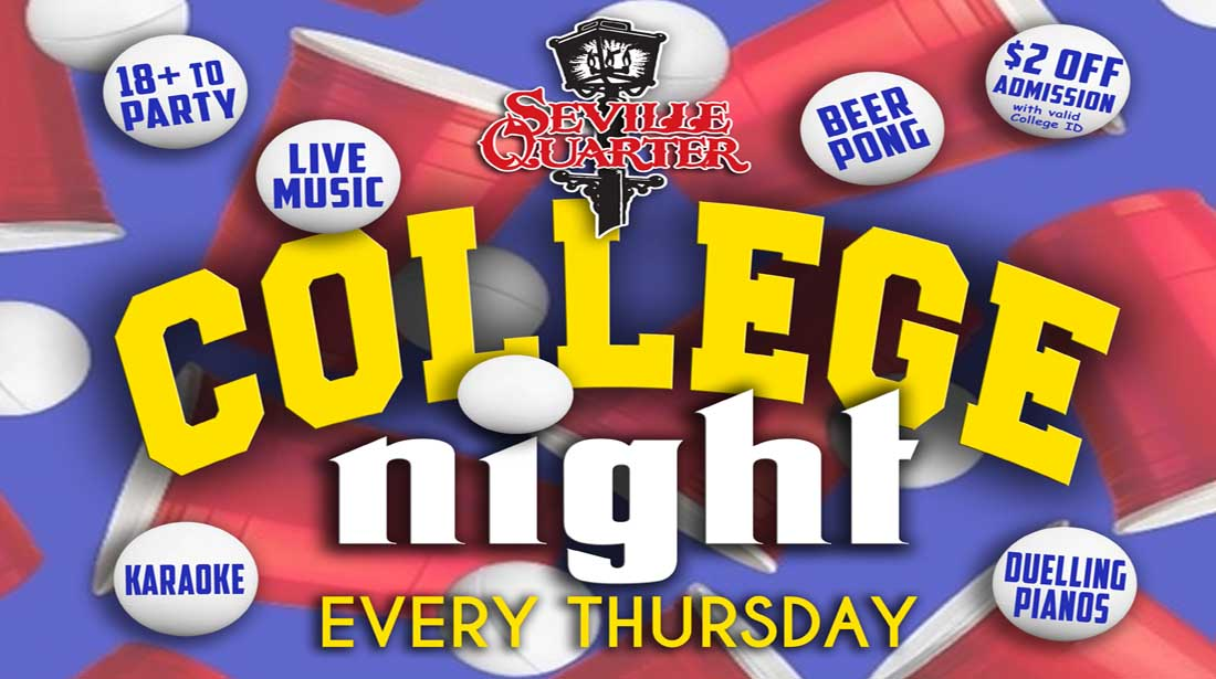 Seville Quarter Event College Night
