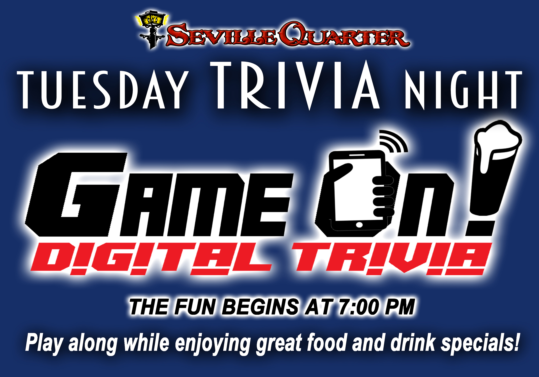 Seville Quarter Event GAME ON! Trivia