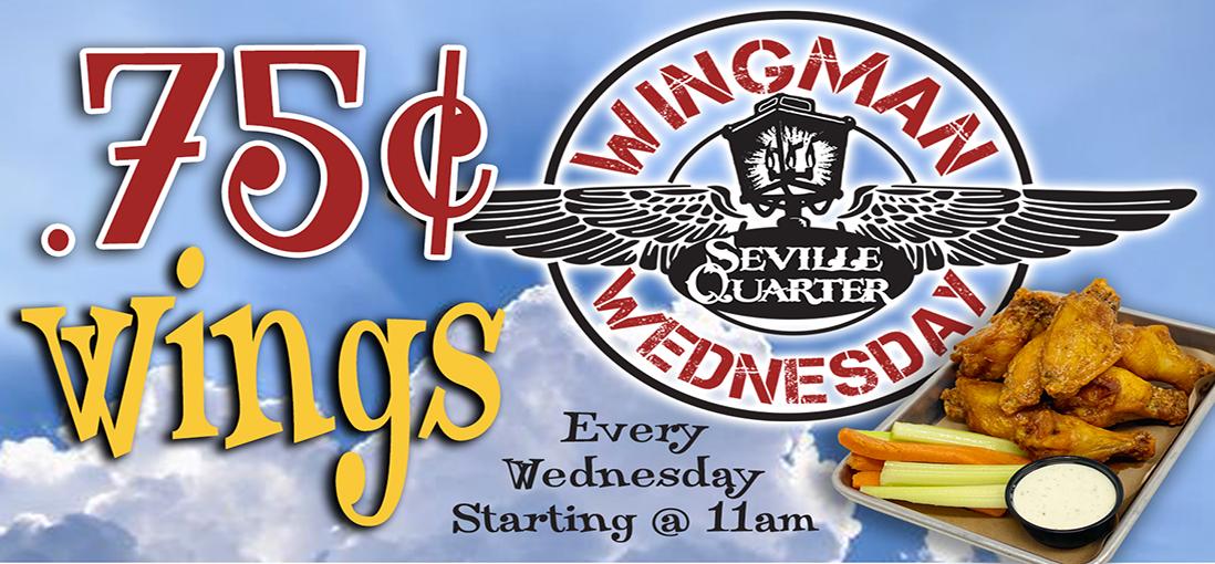 Seville Quarter Event WingMan Wednesday