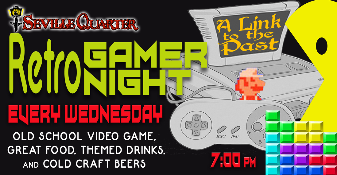 Seville Quarter News Seville Quarter holds 'Retro Gamer Night' each Wednesday