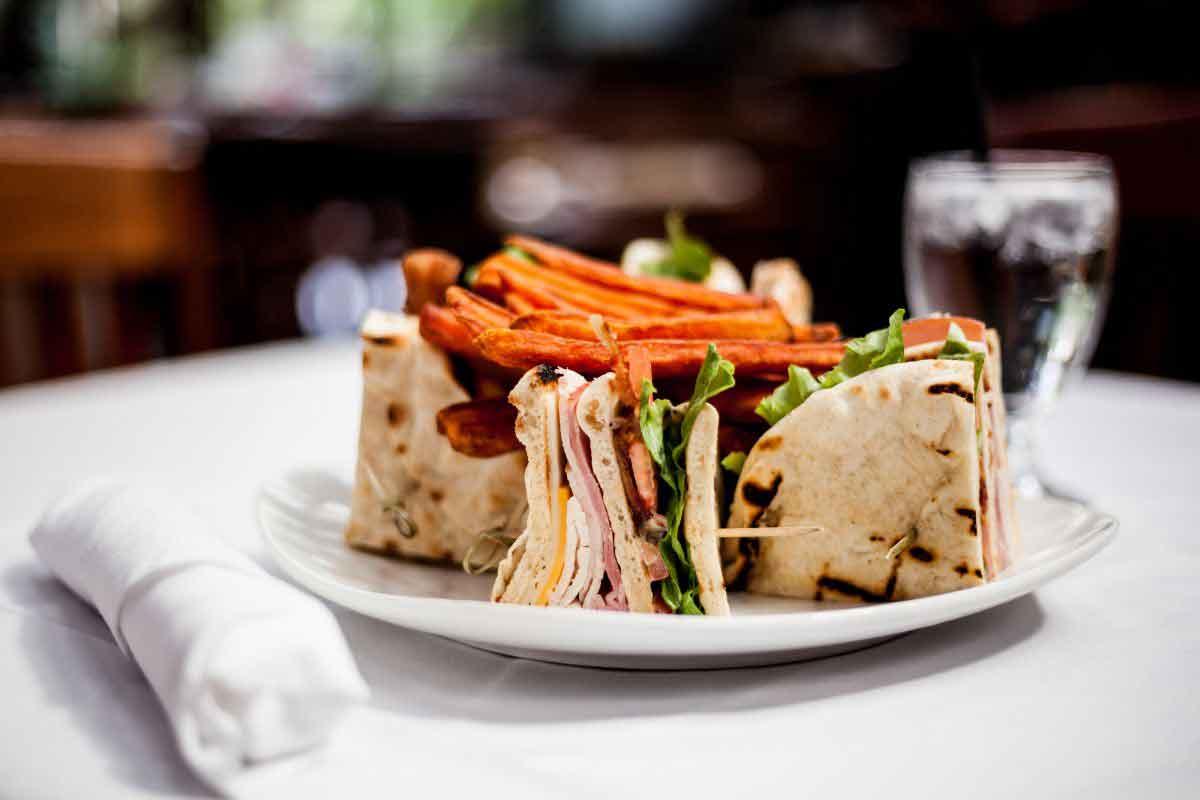 Pita sandwich in palace cafe