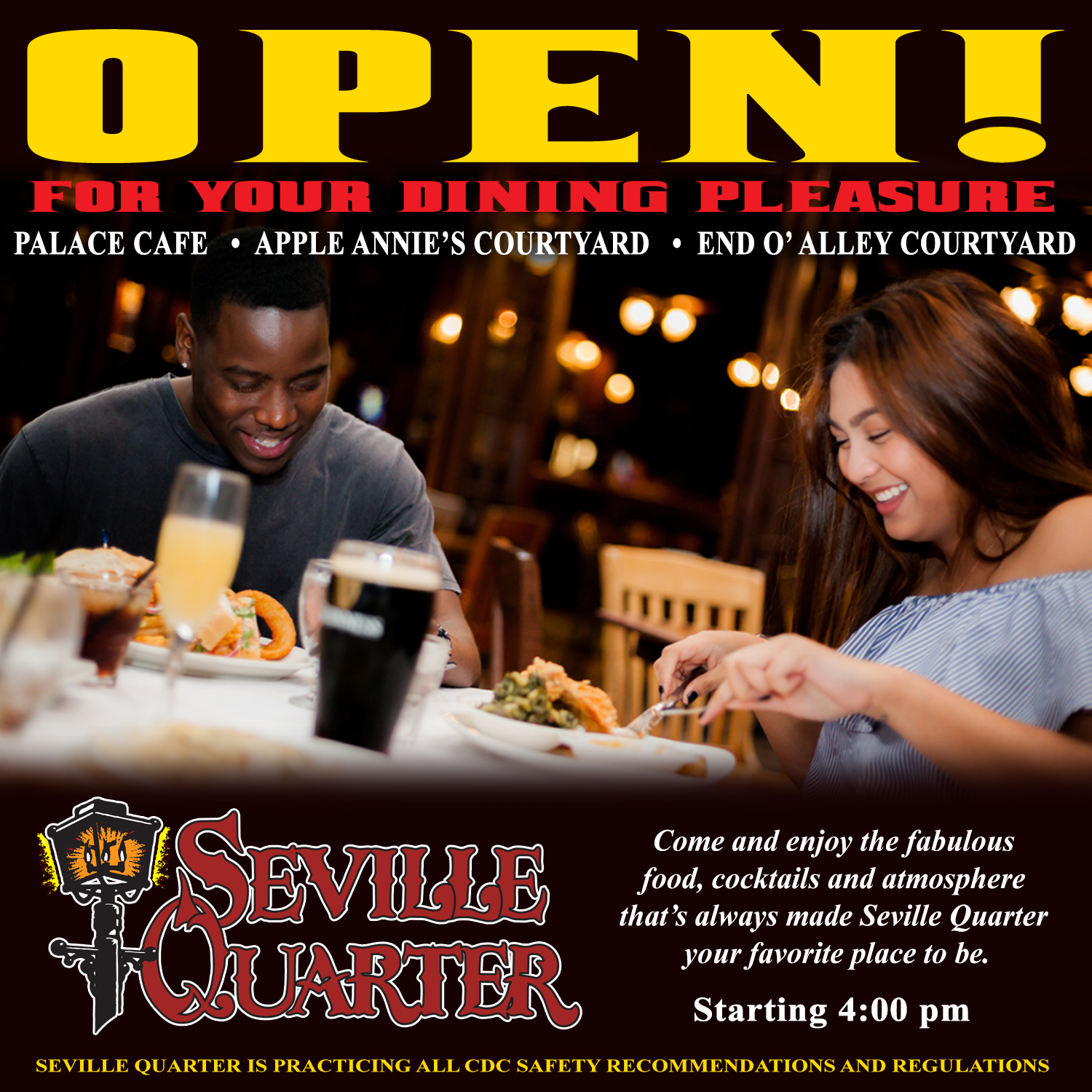 Open for your Dining Pleasure Beginning Thursday, May 21st