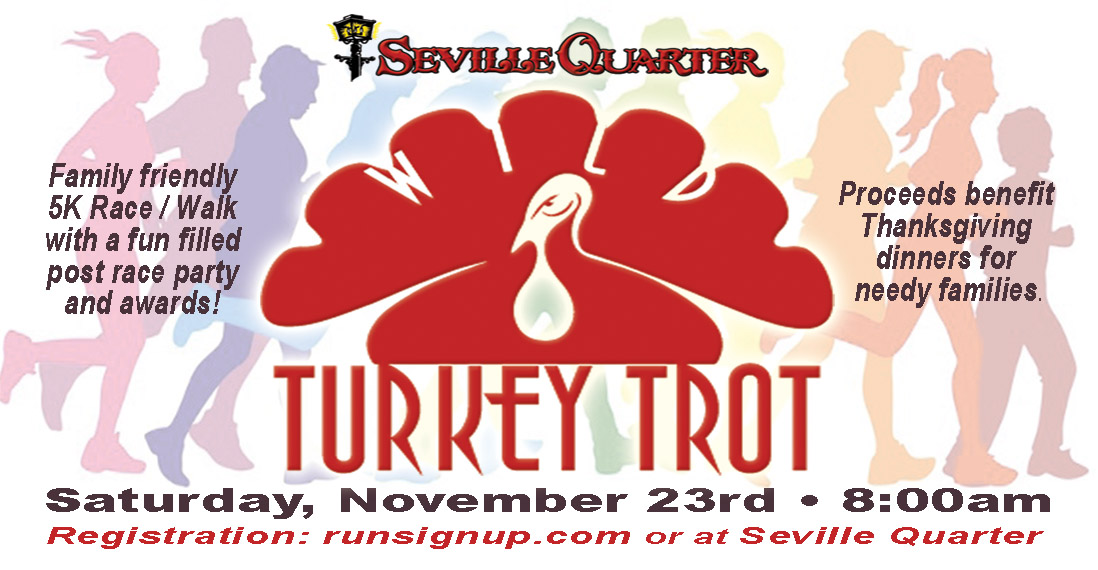 Seville Quarter News 2019 Wild Turkey Trot 5K Run
