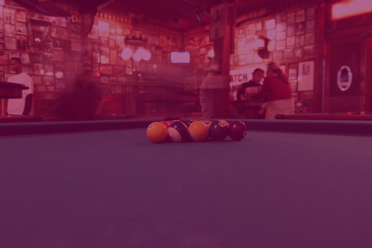 Pool table at Fast Eddies