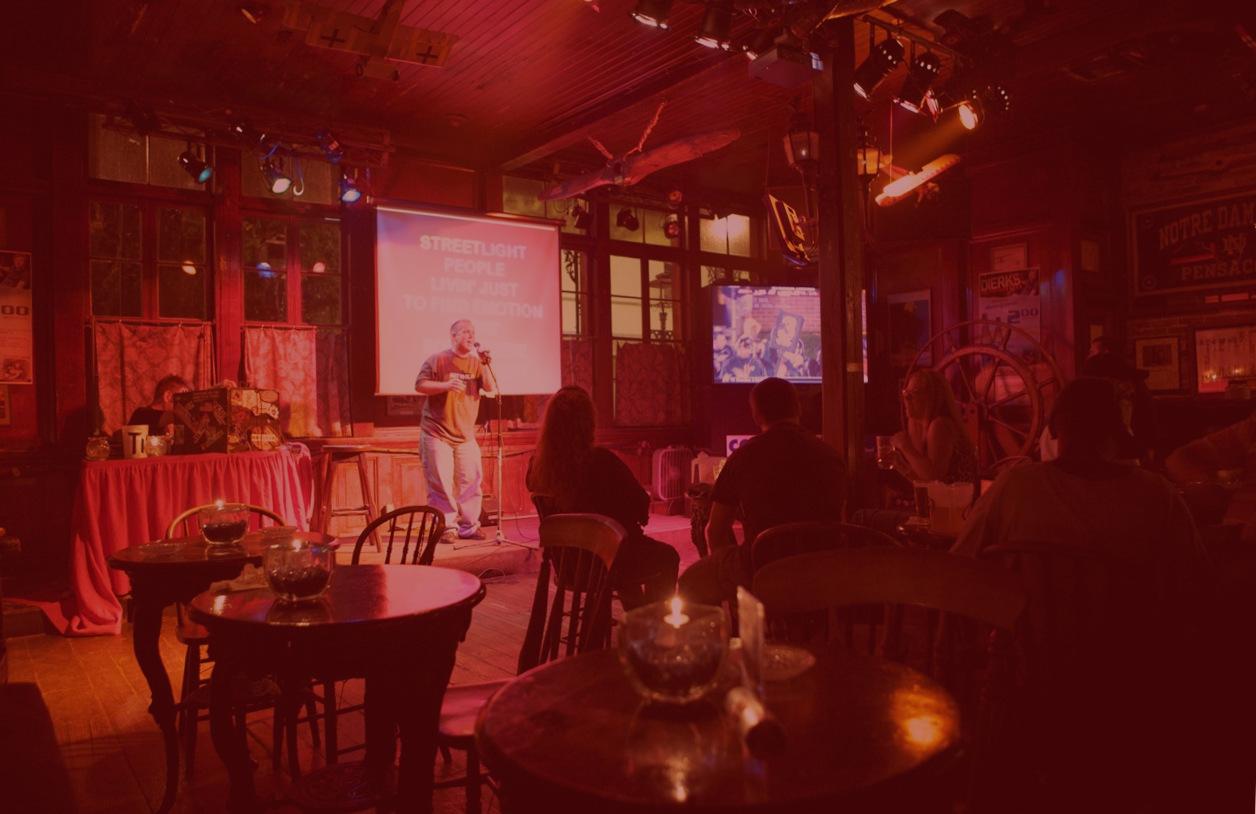 Home seville quarter man singing karaoke at lili marlenes fandeluxe Image collections