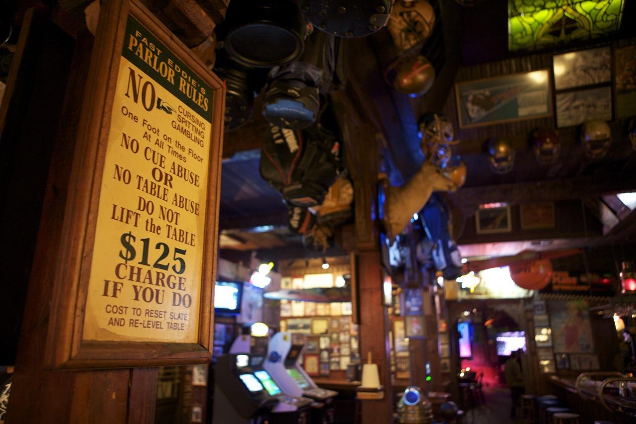 Seville Quarter - Fast Eddie's Parlor Rules