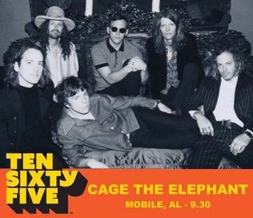 Ten Sixty Five 1065 Mobile Alababama Artist Cage the Elephant